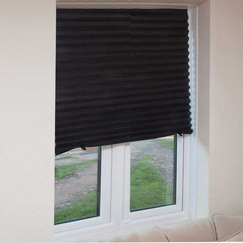 Set of 3 Black Blinds in a Box Instant Blackout Blinds that require no fixings