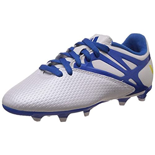 Adidas Messi 15.3 in J - Botas para Niño, Color Blanco/Azul/Negro, Talla 36