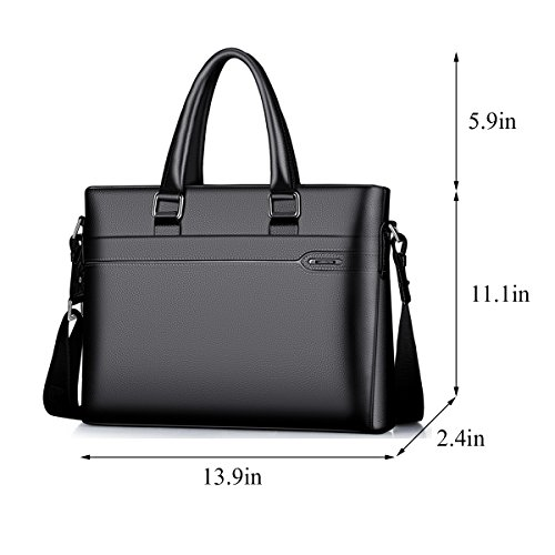 trends Men handbag Fashion coffee QISHI Genuine 2 YUHUA Business 1 Cowhide YUHUA24 QISHI Leather Black 4q5tn