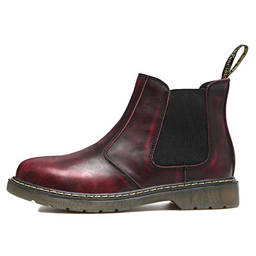 Casual Classic Scamosciata Inverno Stivali Pelle Stivali Stivali Uomo Desert Formale Medio Autunno Brogue Red E Martin Chelsea qtP6Swx0