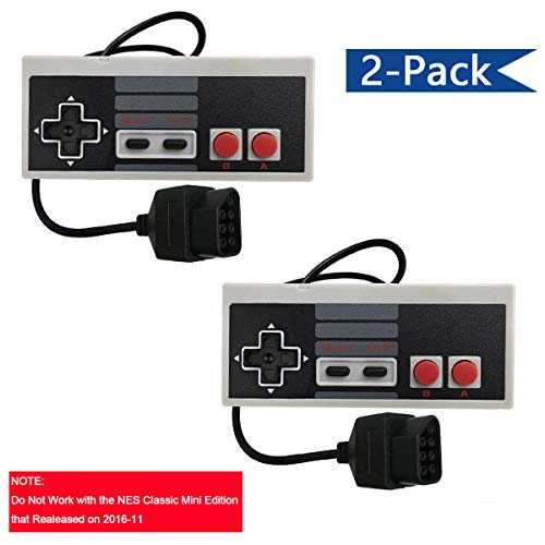 Veanic Replacement Controllers Gaming Pad for Original Nintendo NES 8-Bit Entertainment System (2-Pack)