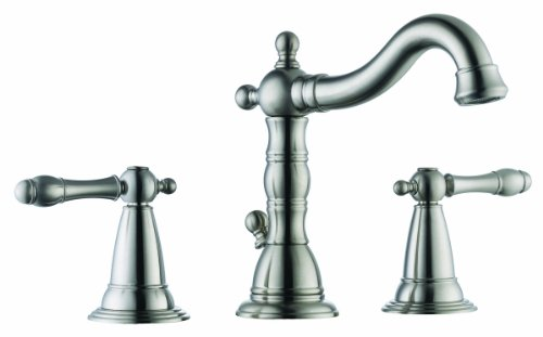 New Design House 523316 Oakmont Wide Lavatory Faucet, Satin Nickel Finish
