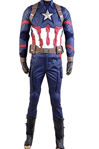 Superhero-Mens-Costume-Civil-War-Steve-Rogers-Battle-Uniform-Cosplay-Outfit-Suit