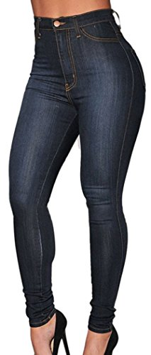 TomYork Wash Denim High-Waist Skinny (High Waisted Buckle)