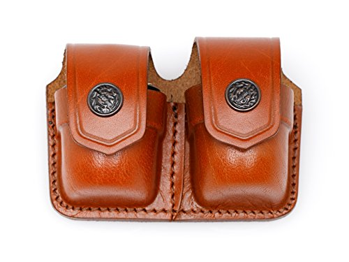 JBP Holsters Leather Speedloader Case (BROWN, DOUBLE)