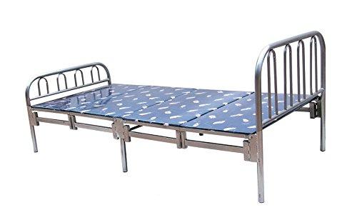 HODEDAH IMPORT HIFB105 Folding Bed, Twin, Silver