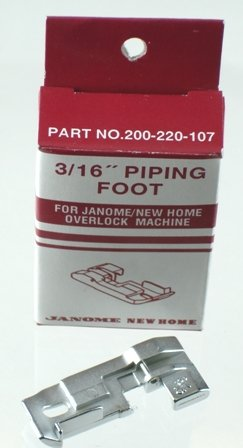 Janome Serger Overlock 3/16 inch Piping Foot by Janome