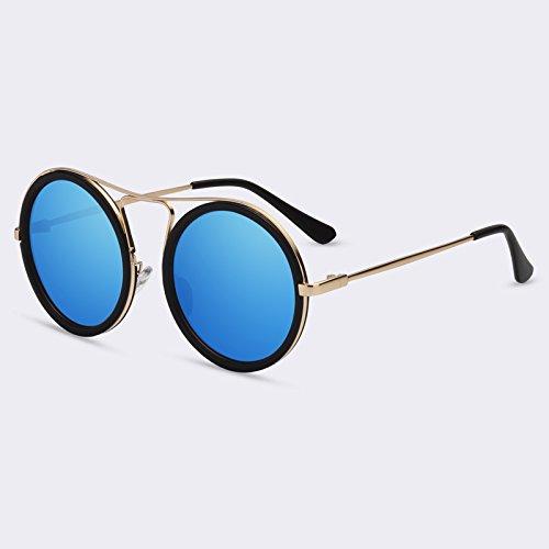 sol reflectora mujer Mujeres sombras UV400 C05Blue sol de degradado redonda C03gris gafas Vintage Mujeres Gafas TIANLIANG04 de q0Ht8Pw