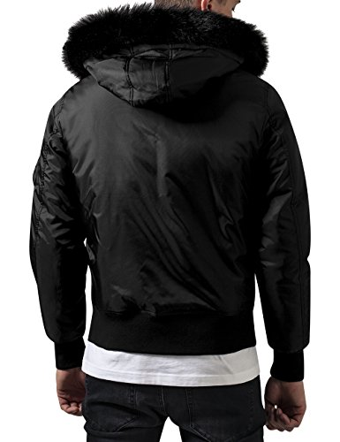 Urban para Black Jacket Hooded Basic 7 Hombre Classics Chaqueta Negro Bomber rWzBqrwY