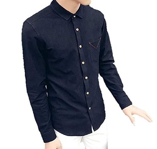 [Nyanny(ニャニー)] シャツ メンズ Yシャツ 長袖 シンプル カジュアル トップス コットン ストレッチ 無地
