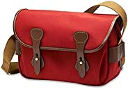 Billingham S3 Shoulder Bag (Burgundy Canvas/Chocolate Leather)