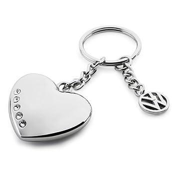 8871e1e9ffb6e3 Volkswagen VW Keyring Heart with Swarovski Crystals