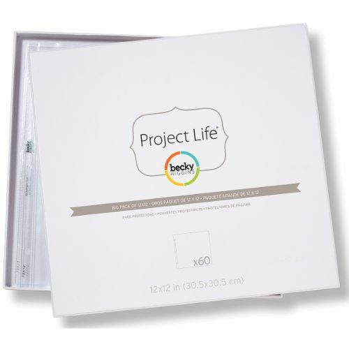 Becky Higgins Big Pack Of 12X12 Page Protectors  60 Pages