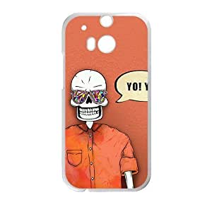 DAZHAHUI Skull Phone Case for HTC One M8 case