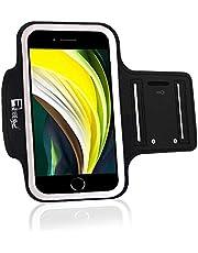 Premium iPhone SE 2020 armband med fingeravtryck hem knappåtkomst. Sport telefonhållare fodral för löpning