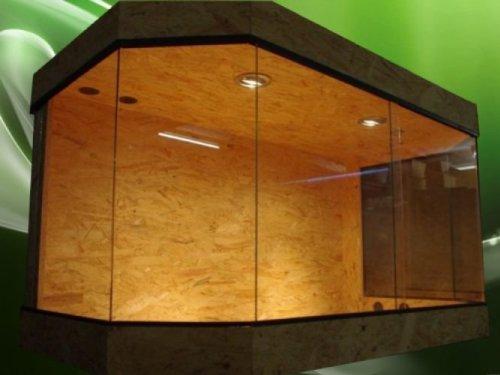 xxl terrarium holzterrarium eckterrarium 180 x 100 x 100 mit seitenbel ftung bunte. Black Bedroom Furniture Sets. Home Design Ideas