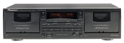 Pioneer CT-W404R Dual Cassette Deck (Discontinued by Manufacturer) (With Player Auto Cassette Reverse)