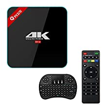 【Update Version】 TV Box with Keyboard, REDGO 3GB RAM 32GB ROM TV Box Octa-core CPU Android 6.0 Dual-band WIFI 2.4GHz/5.0GHz Bluetooth 4.1 1000M LAN 4K 2K Set Top Box 2017 Model