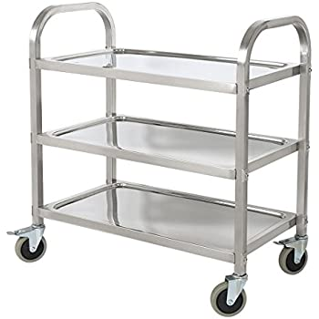 BestValue GO Stainless Steel 3 Tier Kitchen Trolley Kitchen Cart