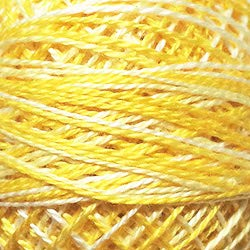 (Valdani Perle Cotton Size ~12~ Embroidery Thread, 109 Yard Ball - m12 Sunny Spring Lights (Variegated))