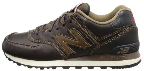 new balance ml574 ukw luxury leather brown