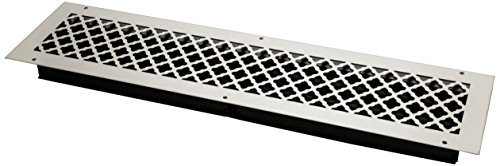 SteelCrest BTU30X6SWHH Bronze Series Designer Wall/Ceiling Vent Cover, with Air-Volume Damper, and Mounting Screws, White by SteelCrest