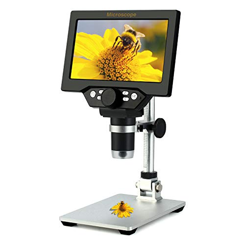 🥇 Koolertron – Microscopio digital con pantalla LCD de 7 pulgadas
