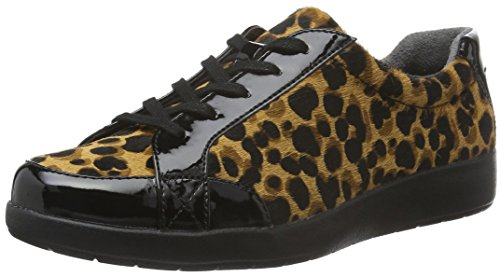 Mujer para Devona Cordones Delaire Leopardo Rockport Zapatos Derby de 0xvYvdZ