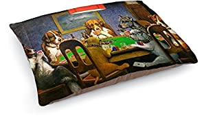 well-wreapped Dogs Playing Poker 1903 C.M.Coolidge Dog Pillow Bed