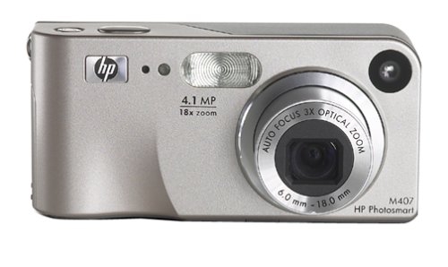 - HP Photosmart M407 4MP Digital Camera with 3x Optical Zoom