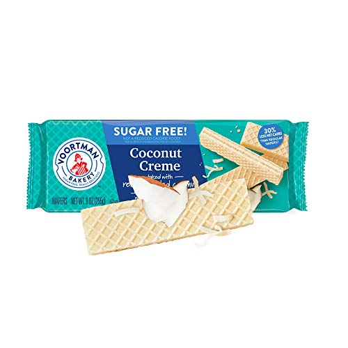 Voortman Coconut Creme Wafers Sugar Free (Coconut Sugar Free Cookies)
