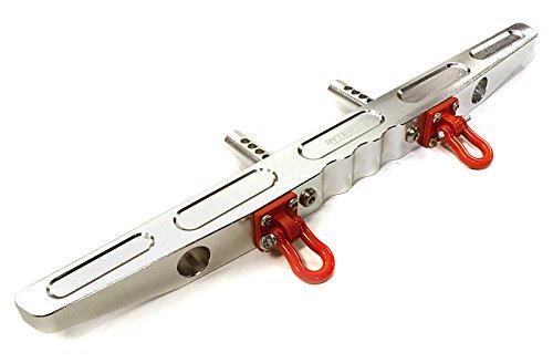 Integy Alloy Rear Bumper (Integy RC Model Hop-ups C26547SILVER Billet Machined Alloy Rear Bumper for Axial SCX-10 Dingo & Honcho 43mm Mount)