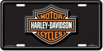 Chroma Graphics 1846 Auto Tg Harly Bar/Shld - Harley Davidson Plates