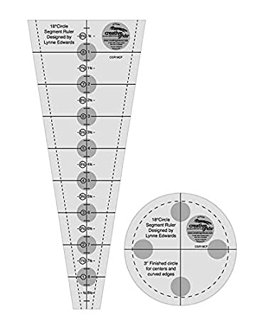 Amazoncom Creative Grids Degree Wedge And Circle Segment For - Dresden plate template