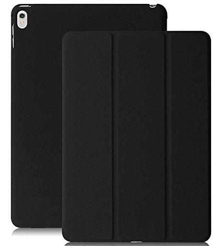 KHOMO iPad Pro 9.7 Inch Case (2016) - DUAL Black Super Slim Cover with Rubberized back and Smart Feature (Built-in magnet for sleep / wake feature) For Apple iPad Pro 9.7 Tablet (Super Case Jewel Slim)