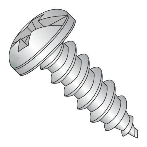 "#10 X 3/4"" Typ ein Self-Tapping Screws/Combo/Pan Kopf / 18-8 Stainless Steel (Carton: 2,500 Pcs)"