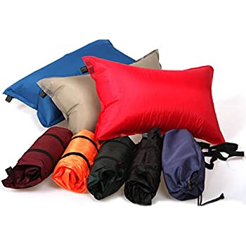 Outdoor Self Inflatable Camping Pillow, Lightweight Travel Pillow, Airplane Sleep Air Pillow Cushion,Color at Random,1Piece