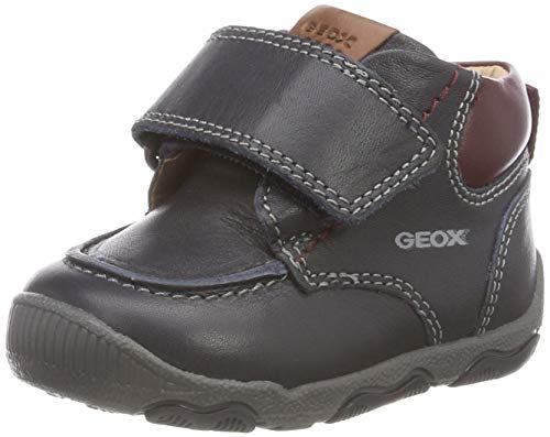 Geox New Balu Boy 16 All Leather Adventure Bootie Ankle Boot, Navy/Bordeaux, 24 Medium EU Toddler (8 US)