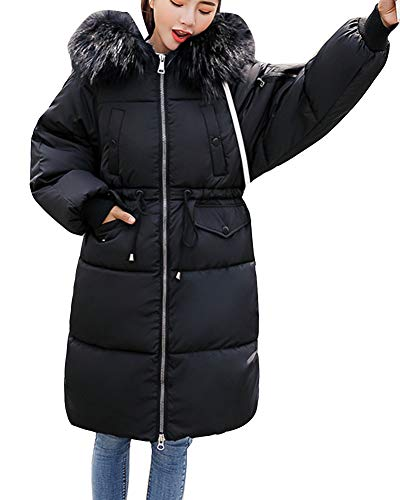 Thicken Imbottito Nero Down Women Long Warm Coat Jacket Capispalla Parka Winter Overcoat Shaoyao at8gqxna1