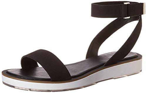 Calvin Klein Women's Lore Gladiator Sandal, Black, 7.5 M US