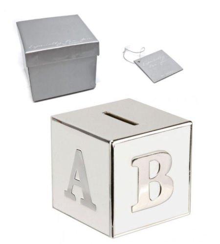 Abc Spardose Mit Persönlicher Gravur Versilbert Graviert Geschenk