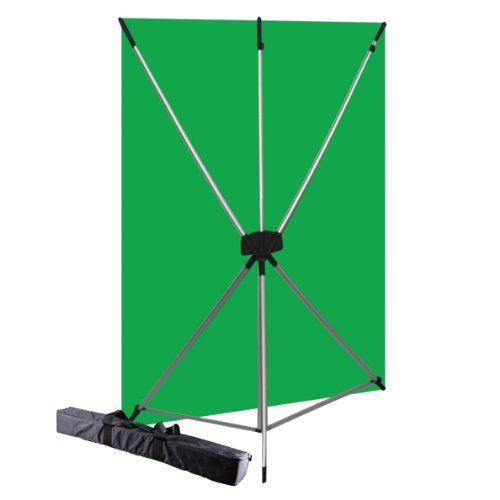Westcott 579K X-Drop Kit with 5 x 7 Feet Green Screen Backdrop (Green/Silver) by Westcott