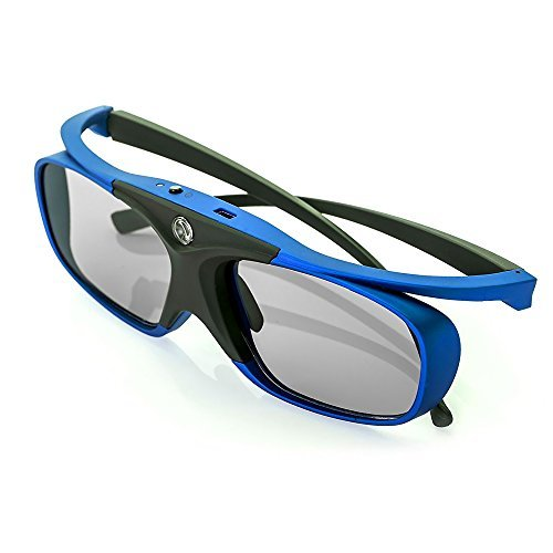 WOWOTO DLP Link 3D Glasses, Rechargeable 3D active Glasses for ALL DLP Projectors and DLP 3D TV's