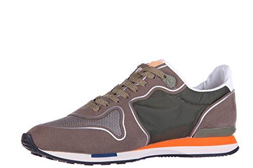 Golden Goose chaussures baskets sneakers homme en daim running vert