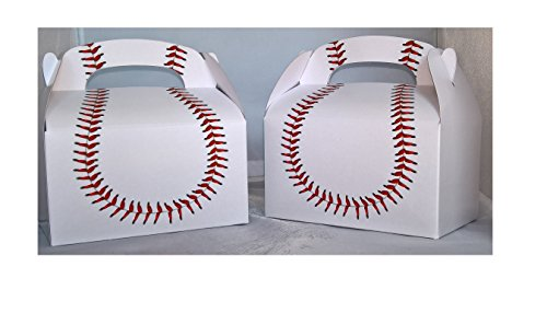 DOMAGRON Baseball Party Treat Box (Pack of 12)