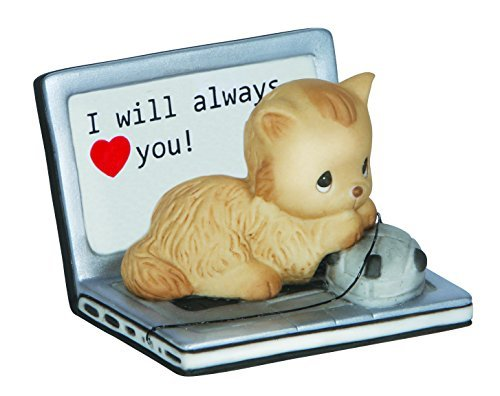 Precious Moments,  I Will Always Love You, Porcelain Figurine, Cat, 142005