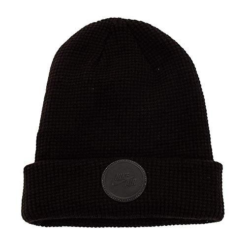 NIKE Unisex Air Beanie Knit Hat (Black/Reflective Black)