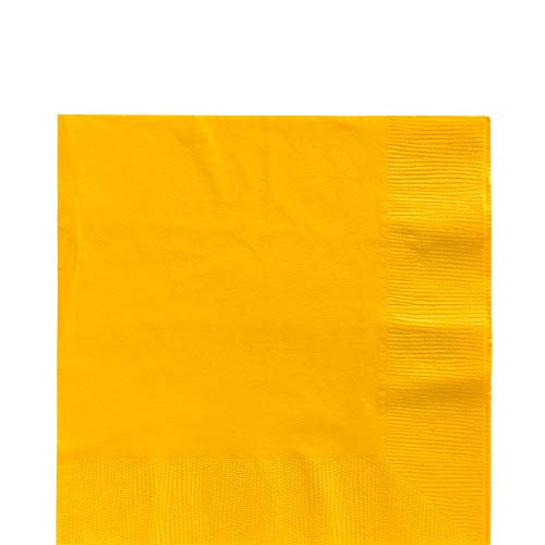 Big Party PackSunshine Yellow Luncheon Napkins| Pack of 125 | Party Supply