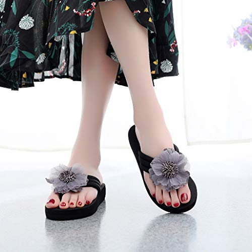 Sandali Donna Slippers Grigio Vovotrade Decored Antiscivolo Ladies Flowers Home Scarpe Stivali Flip Da Summer Flops Beach AqWCFq