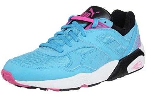PUMA Trinomic R698 Sport Sneaker Women Trainers 357331 03 Blue, Shoe Size:EUR 40 (Puma Trinomic Women)